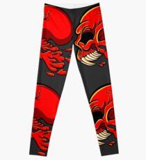 Hell Skull Design  Leggings