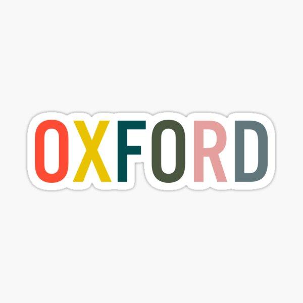 Natural Rainbow Oxford Sticker