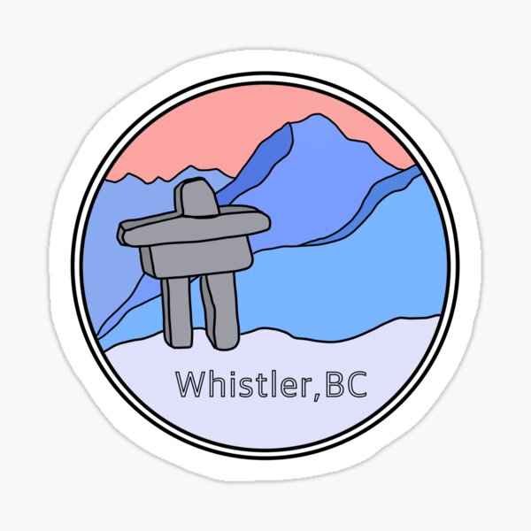 Whistler BC icon  Sticker