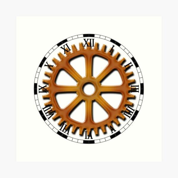 Roman Numeral #Clock Face #ClockFace #NumeralClockFace #RomanNumeralClockFace Art Print