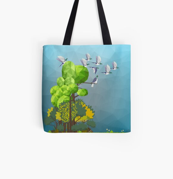 Kererū in the forest All Over Print Tote Bag