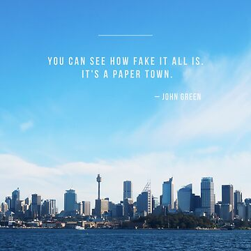 Paper Towns John Green by dezz
