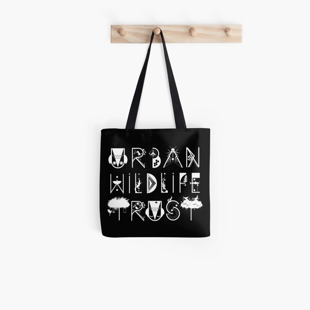 Urban Wildlife Trust Typography Logo (white)  Tote Bag