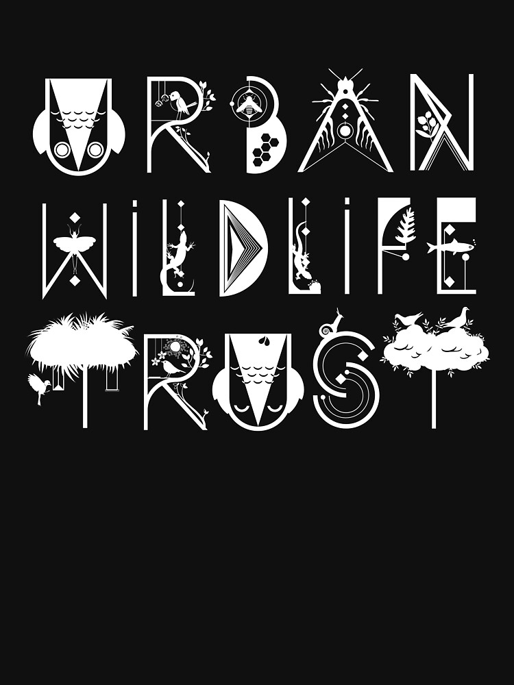 Urban Wildlife Trust Typography Logo (white)  by UrbanWildlife