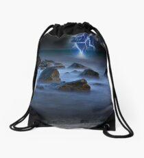 Stormy Seashore Drawstring Bag