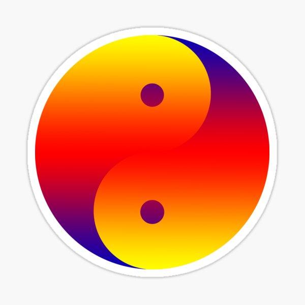 Yin yang farbig Sticker