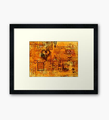 Map of the Heart III Framed Print