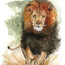 « Aquarelle De Lion » par Threeleaves
