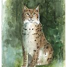 « Aquarelle Lynx » par Threeleaves