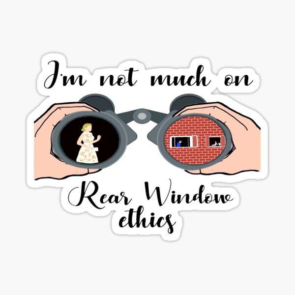 Rear Window Ethics  Sticker