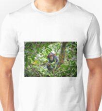 cute feeding juvenile chimpanzee, Kibale National Park T-Shirt