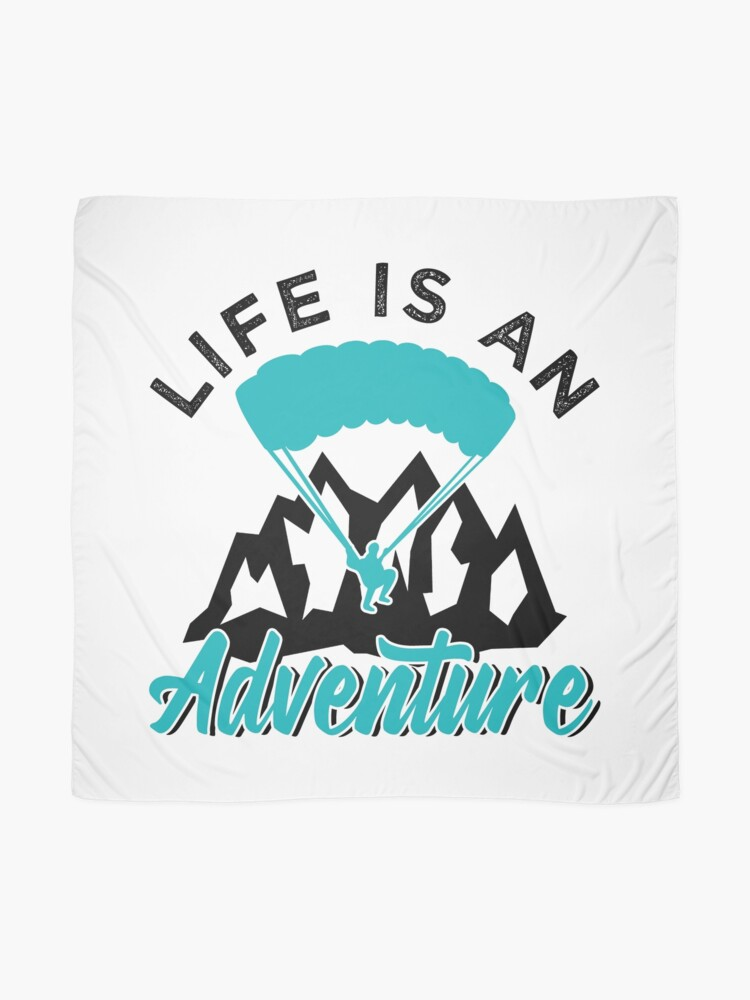 Alternate view of Paragliding Life Is An Adventure Scarf