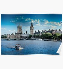 London, House of Parliament Poster