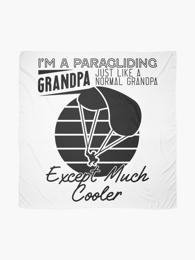 Alternate view of Cool Paragliding Grandpa Scarf
