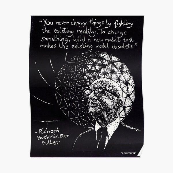 """""""Richard Buckminster Fuller"""" Poster"""