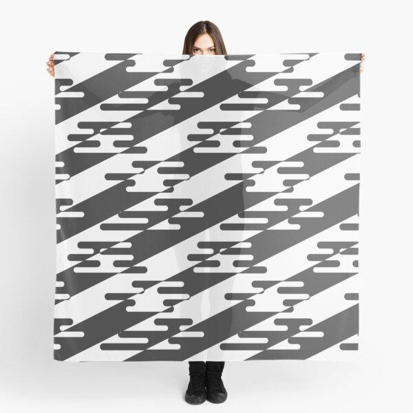 Black and White Egasumi - Japanese Cloud Pattern Scarf