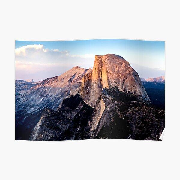 Yosemite Half Dome sunset Poster