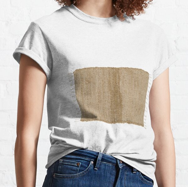 Burlap Natural Chindi/Rag Rug 20x30 Beth's Country Primitive Home Decor Classic T-Shirt
