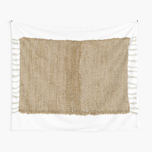 Burlap Natural Chindi/Rag Rug 20x30 Beth's Country Primitive Home Decor Tapestry