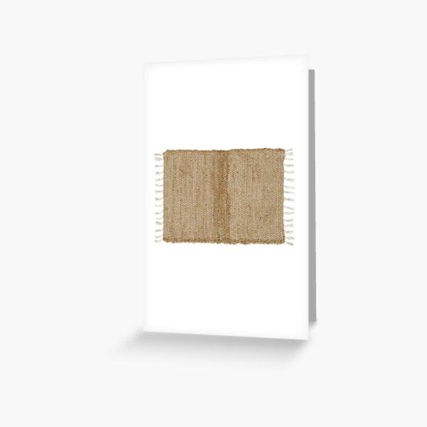 Burlap Natural Chindi/Rag Rug 20x30 Beth's Country Primitive Home Decor Greeting Card