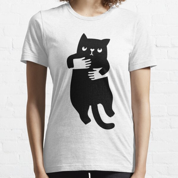 Négatif espace chat de la main T-shirt essentiel