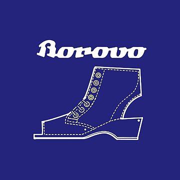 Borosana Borovo -  blue nostalgic ortopedic shoe from Yugoslavia by SofiaYoushi