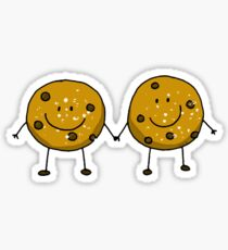 Cute chocolate chip cookie besties Sticker