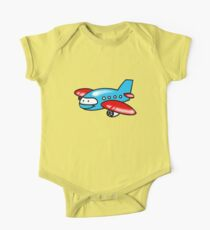 Funny blue airplane cartoon Kids Clothes