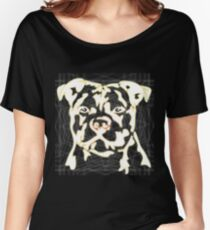 strong pitbul with illustration Women's Relaxed Fit T-Shirt