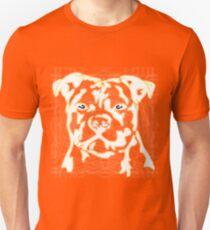 strong pitbul with illustration Unisex T-Shirt