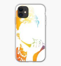 Audrey Hepburn vacant expression iPhone Case
