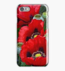 Red poppy flowers iPhone Case/Skin