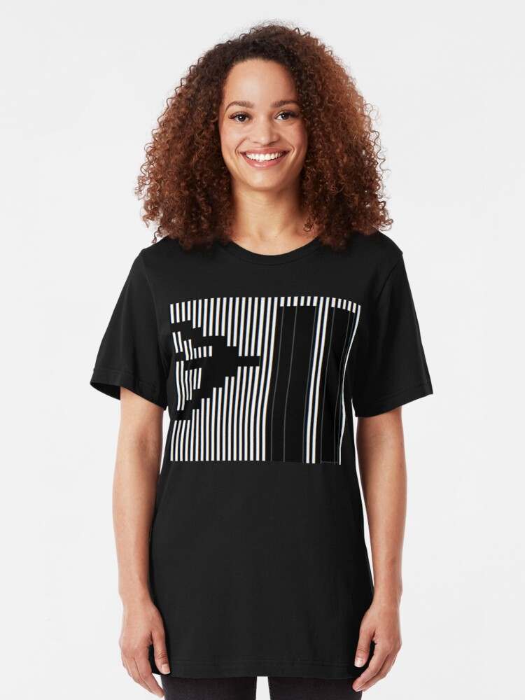 Alternate view of 911 Barcode Slim Fit T-Shirt