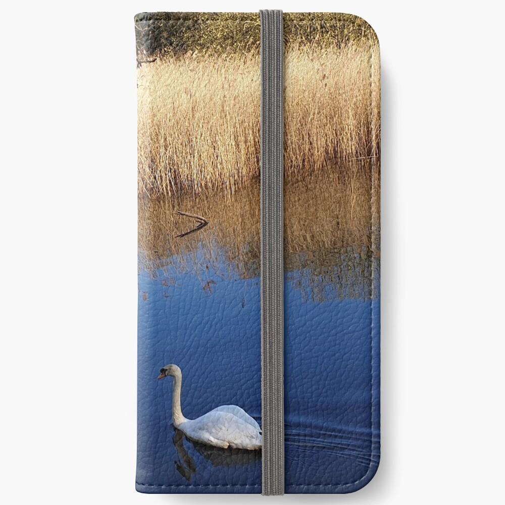 Schwäne iPhone Flip-Case
