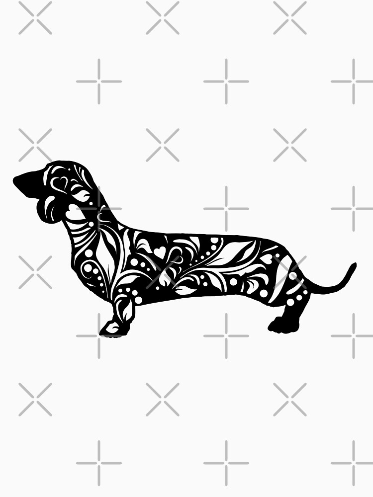 Dachshund Floral Mandala by tribbledesign