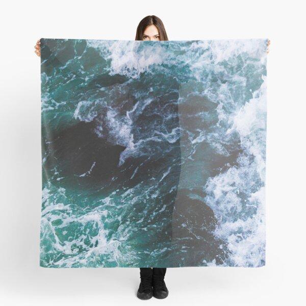 Blue Ocean Waves, Sea Photography, Seascape Scarf