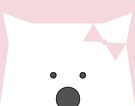 Peek-a-Boo Bear with Bow, Soft Pink by Kendra Shedenhelm