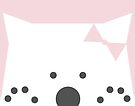 Peek-a-Boo Bear with Bow and Paws Up, Soft Pink by Kendra Shedenhelm