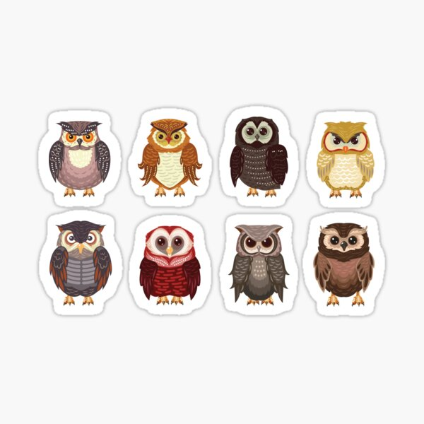 Owls Sticker