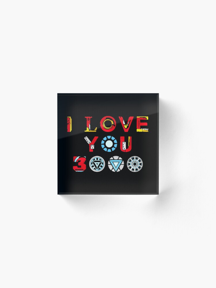 Alternate view of I Love You 3000 v3 Acrylic Block