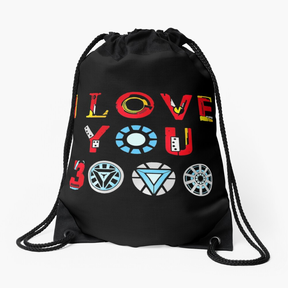 I Love You 3000 v3 Drawstring Bag