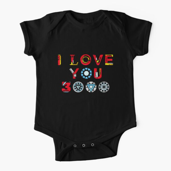 I Love You 3000 v3 Short Sleeve Baby One-Piece