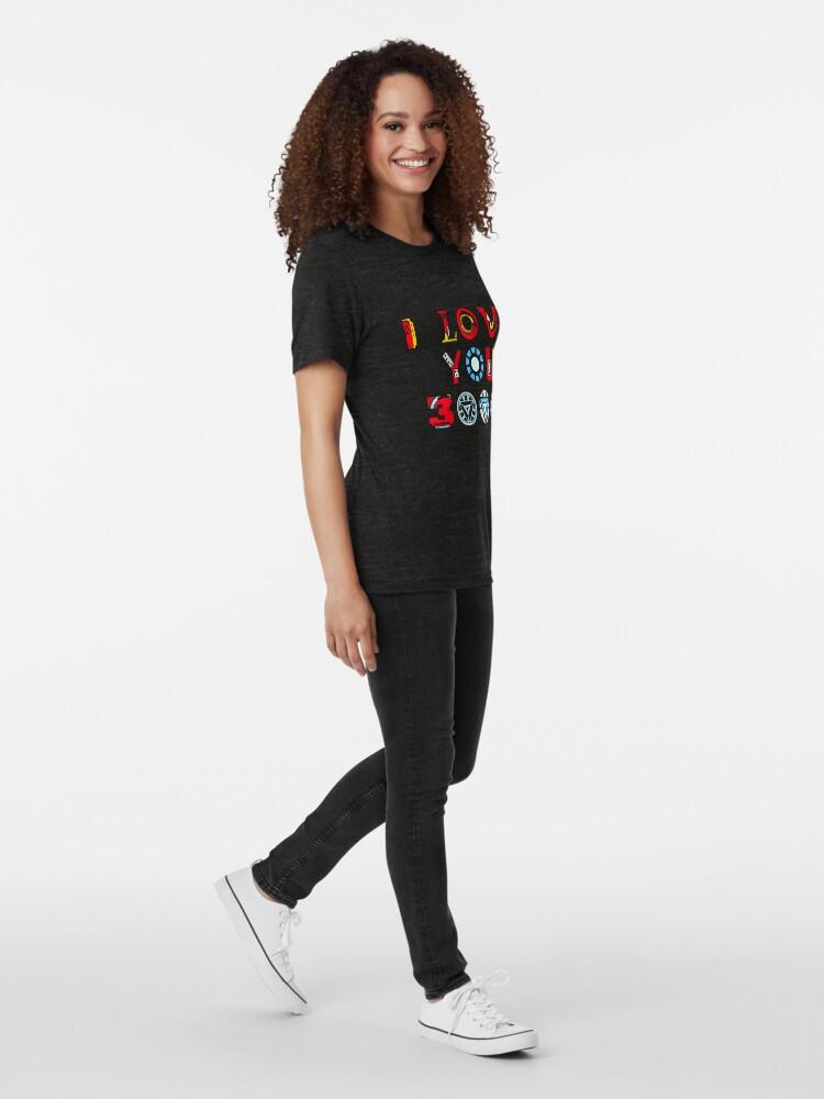 Alternate view of I Love You 3000 v3 Tri-blend T-Shirt