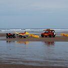 Safe on the beach by Lynn Hughes