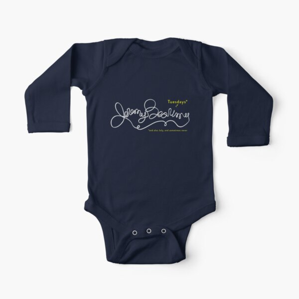 Jeremy Bearimy in white (with notation) Long Sleeve Baby One-Piece