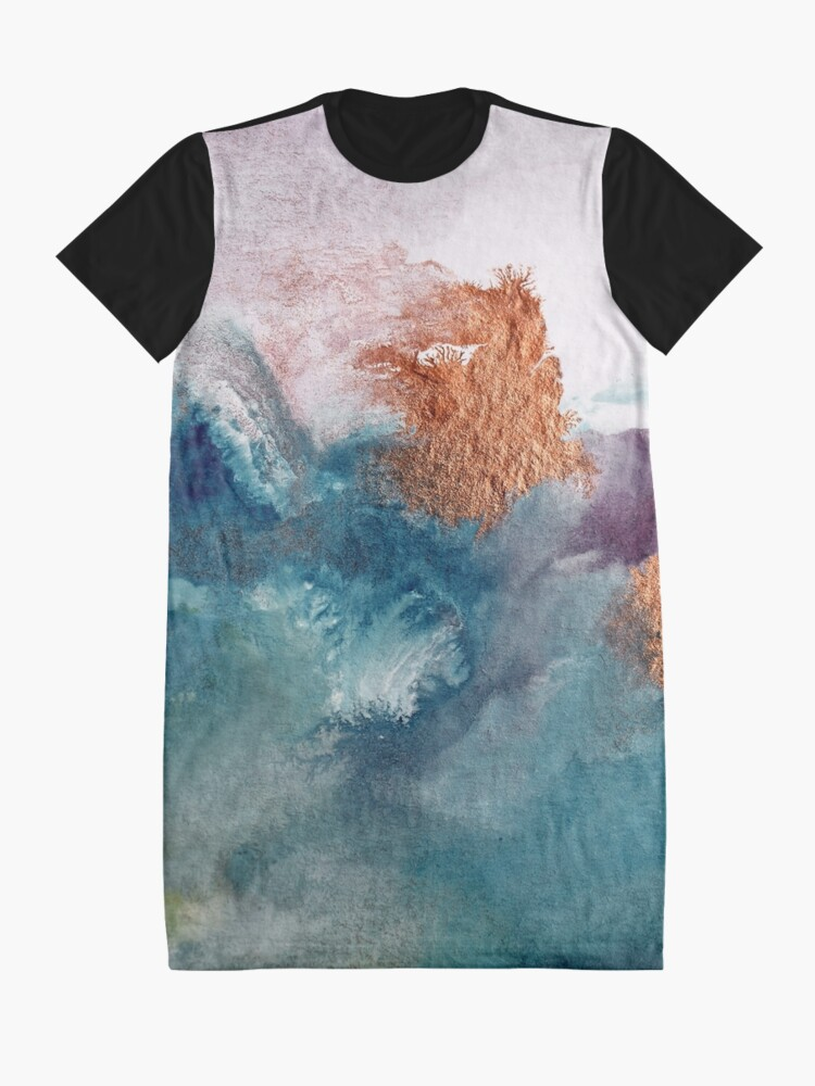 Alternate view of Abstract Birth Graphic T-Shirt Dress
