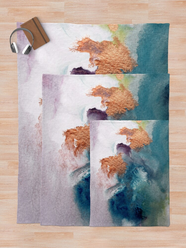Alternate view of Abstract Birth Throw Blanket