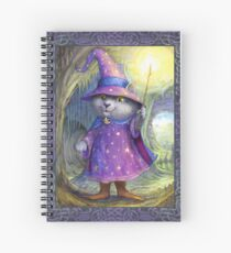 Purlin the Grey - wizard cat Spiral Notebook