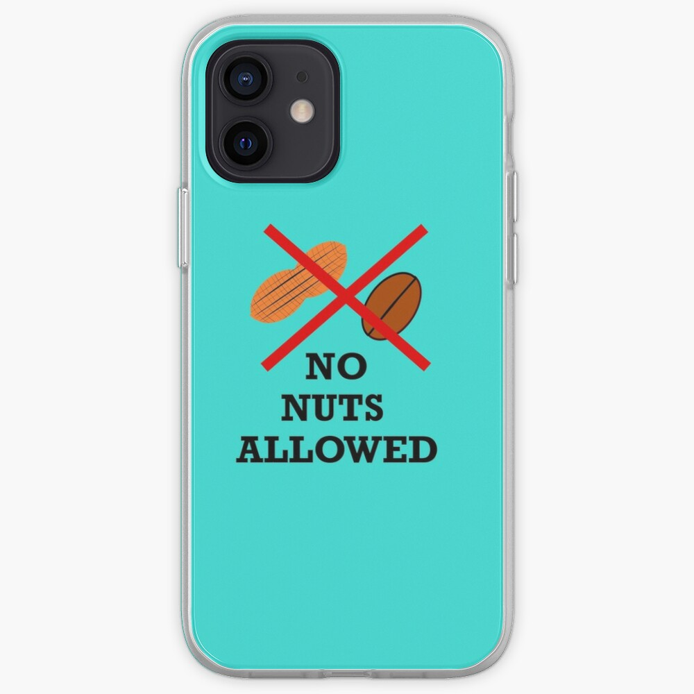 No nuts, Nut allergy,Anaphylaxis,Epipen,Allergies iPhone Case & Cover