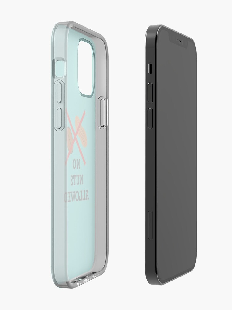 Alternate view of No nuts, Nut allergy,Anaphylaxis,Epipen,Allergies iPhone Case & Cover